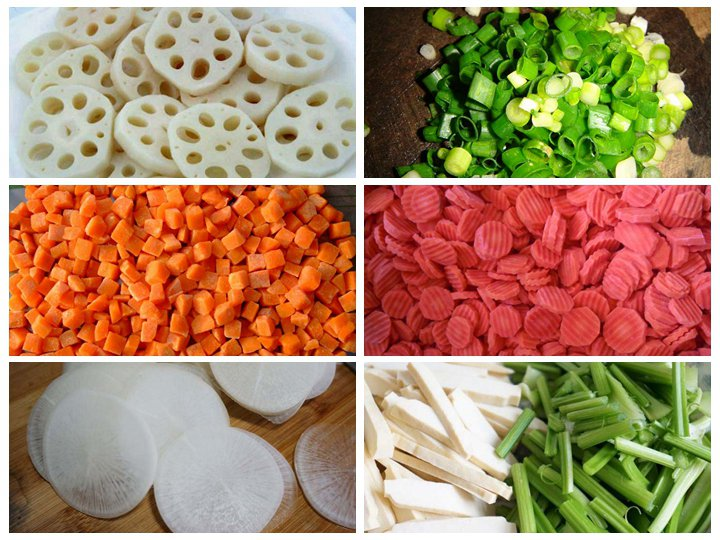 Cutted vegetables