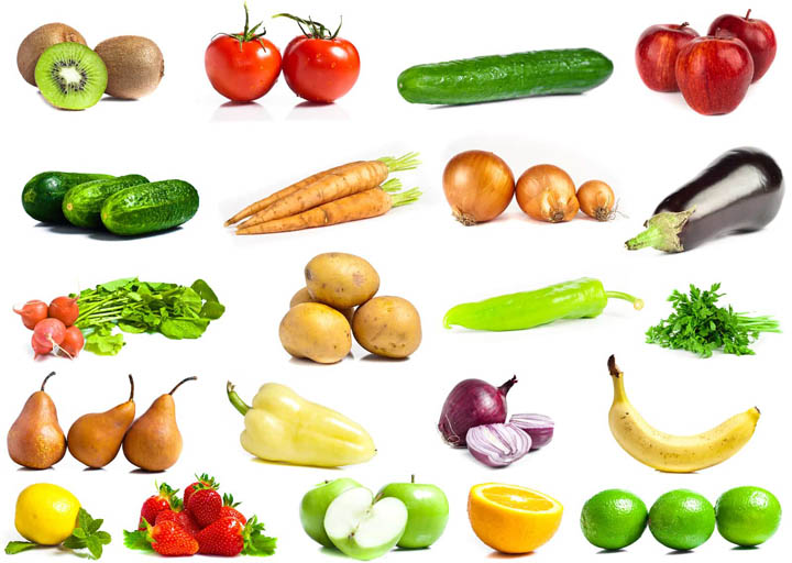 Fruits and vegetables for processing