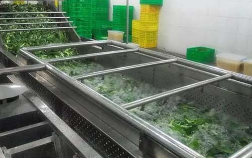 bubble cleaning for spinach