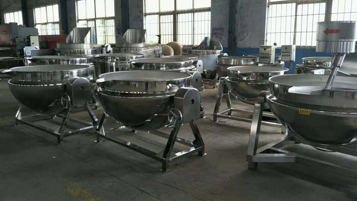 jacketed cooking pot factory