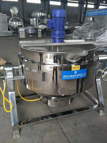 display for jacketed kettle