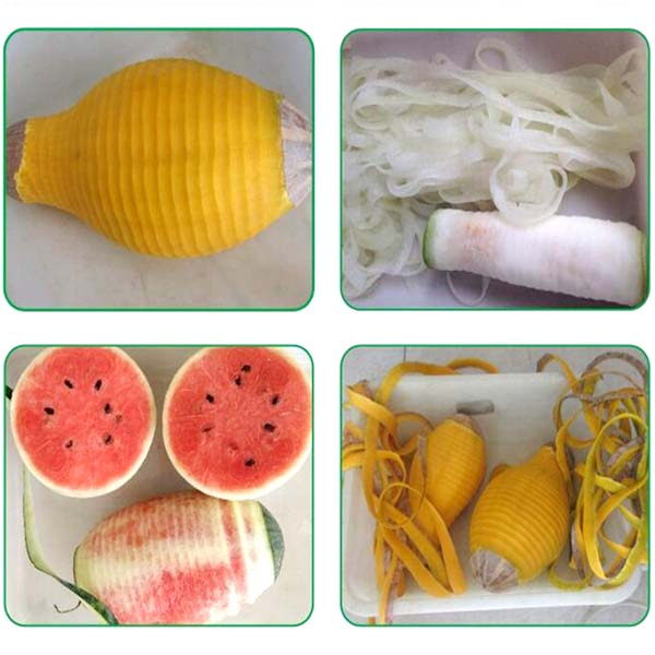 peeling effect for fruits and melons