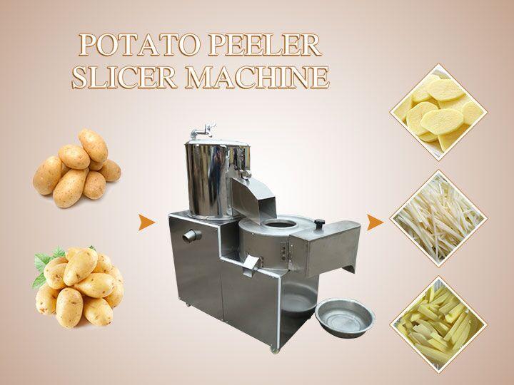 potato peeler and slicer machine