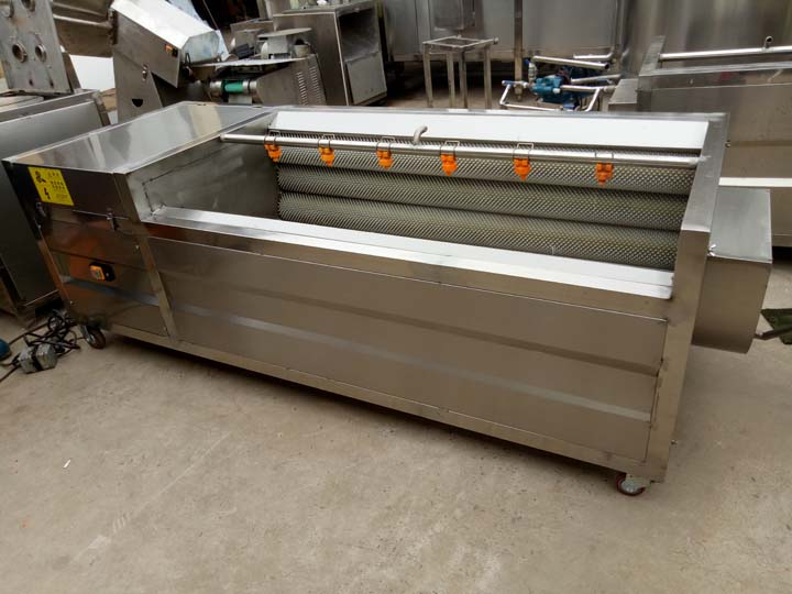 large potato washing and peeling machine
