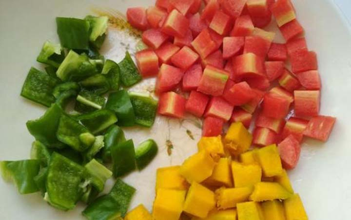 vegetable cubes