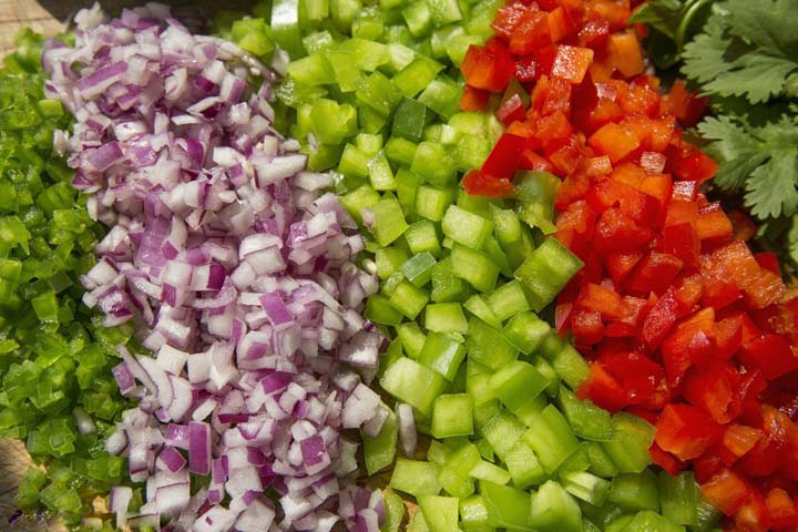 vegetable dicing cubes