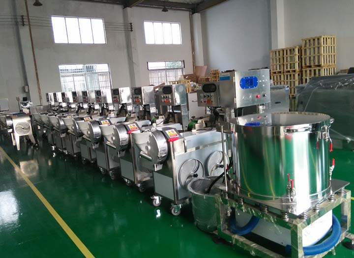 electric vegetable slicer machine factory