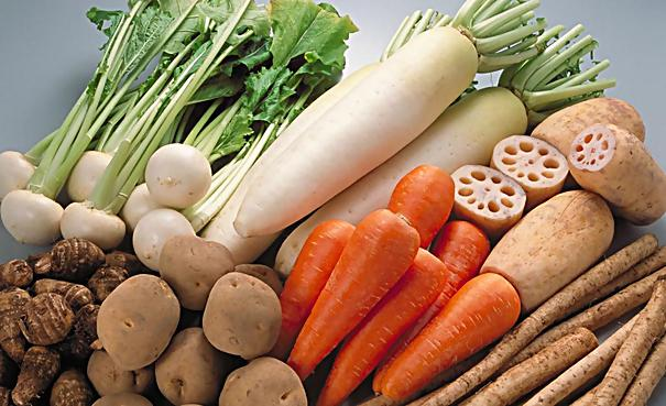 vegetables and fruits for washing and peeling