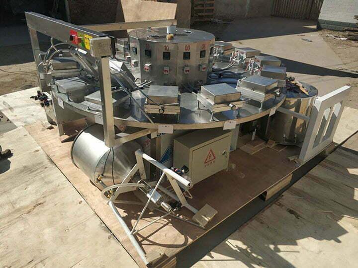 Iraq ice cream waffle basket machine for shipping