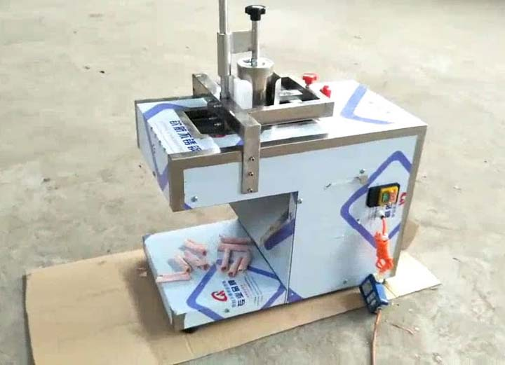 automatic meat slicing machine for cut single meat slice for each time