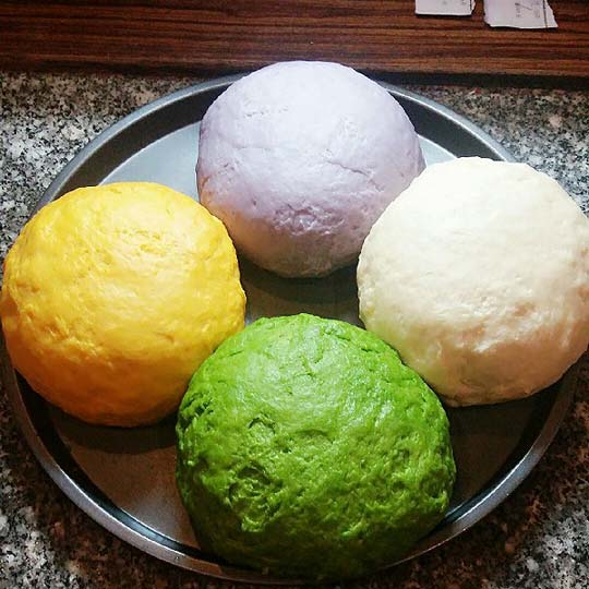 colorful dough