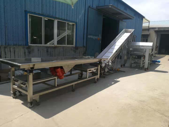 conveyor for grape destemmer
