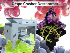 grape destemmer crusher machine