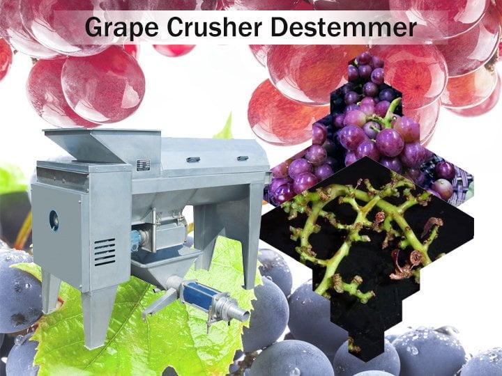 grape destemmer crusher machine