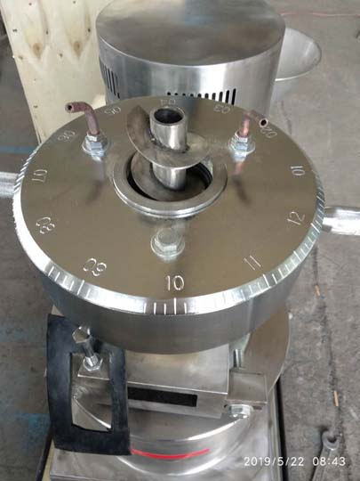 grinding plate of the colloid mill