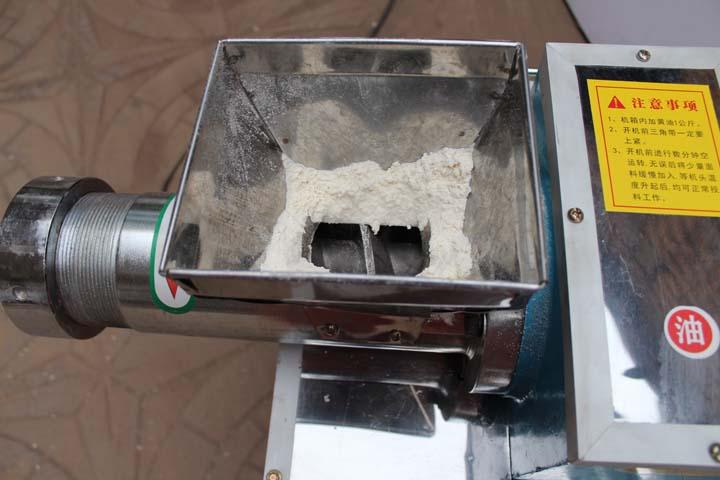 pasta machine inlet