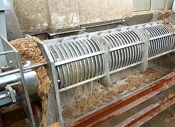 sawdust dewatering processing