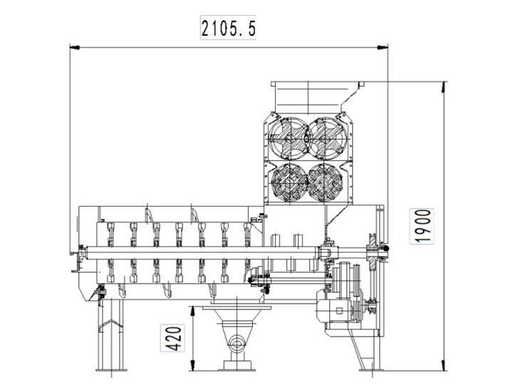 structure of commercial pomegranate peeler