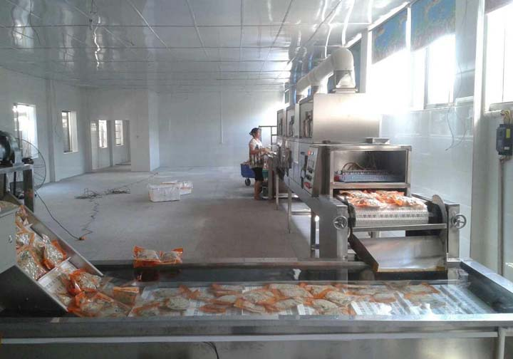 customer use of the food sterilization machine