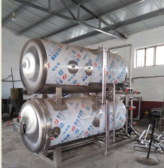 food sterilizing machine with two tanks