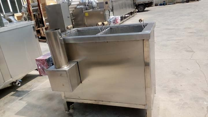 potato chips fryer with gas heating
