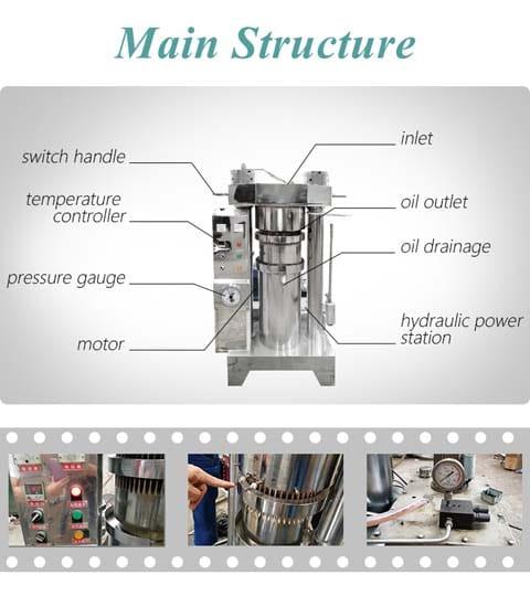 oil press machine structure