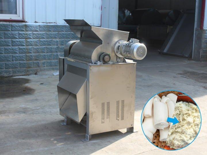 peeled cassava grater machine