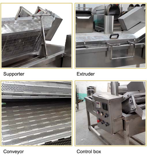 commercial frying machine details