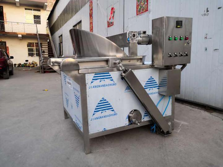 electric batch frying equipment