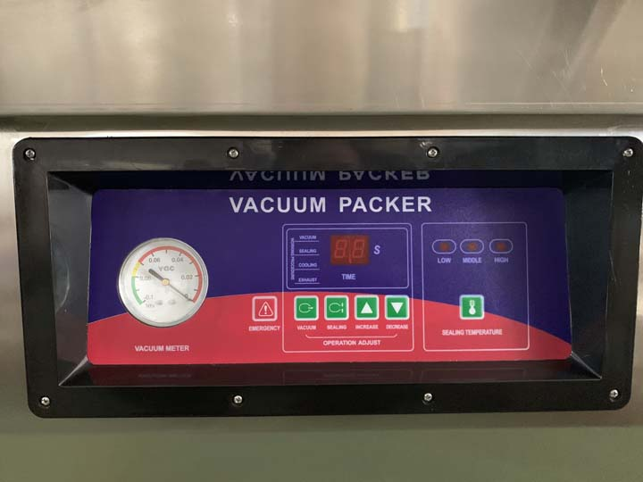 electric displayer of the vacuum packer