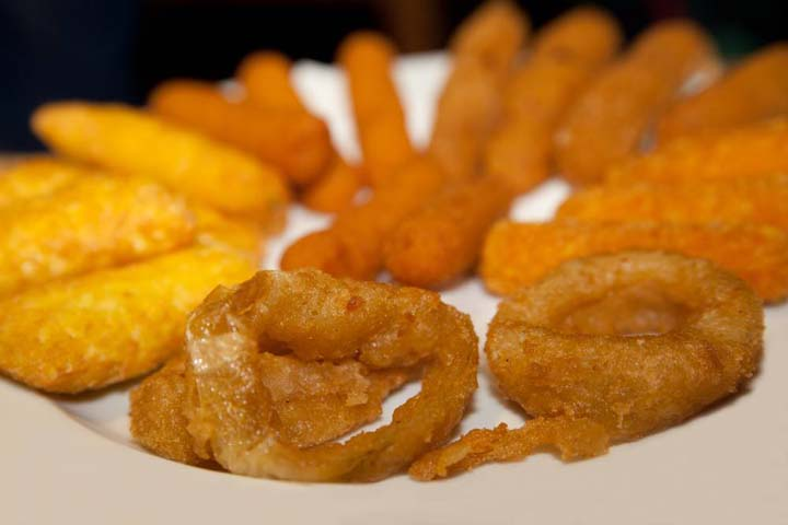 fried foods from continuous fryer