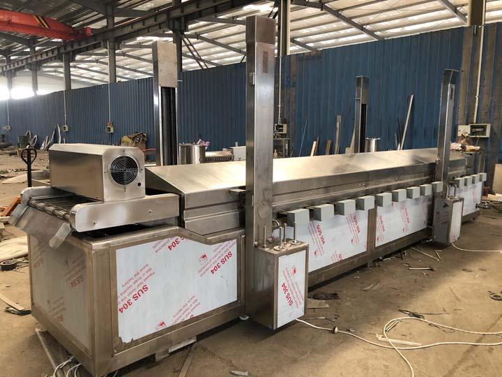 fryer machine with 8m mesh belt