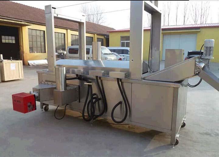 gas heating type fryer machine