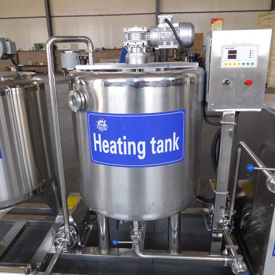 milk preheating tank
