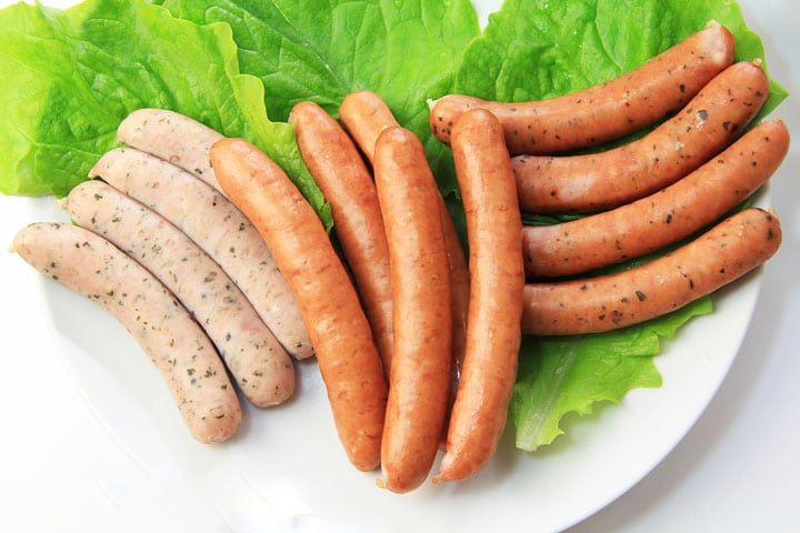 sausages with different flavors