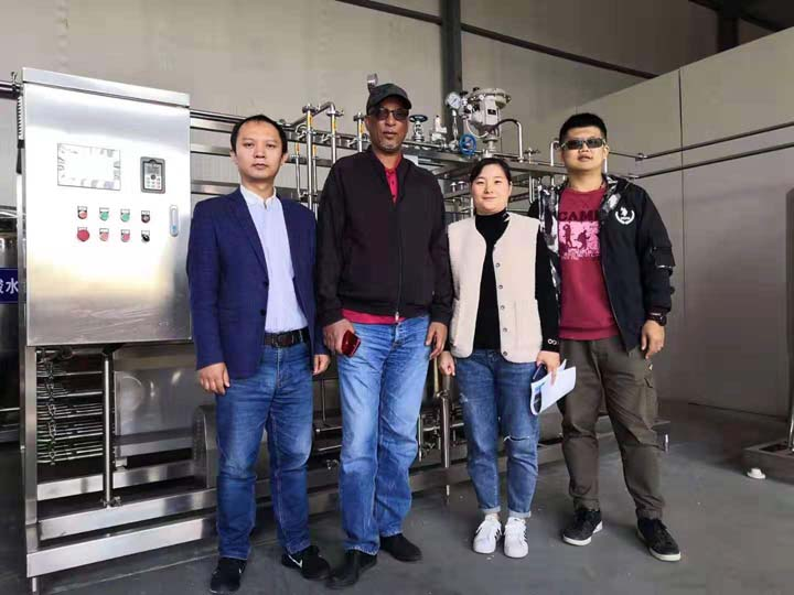 Saudi customer for visiting our factory