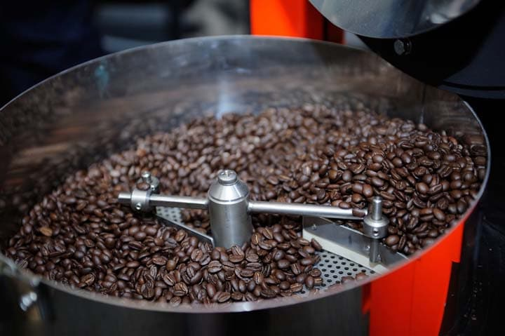coffee beans roasting effect
