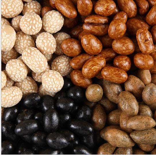 coated peanuts with different flavors