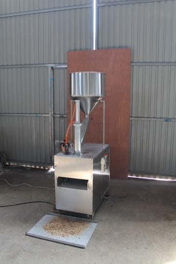 nuts slicing machine testing