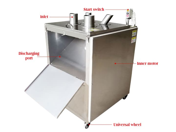 fruit slicing machine structure