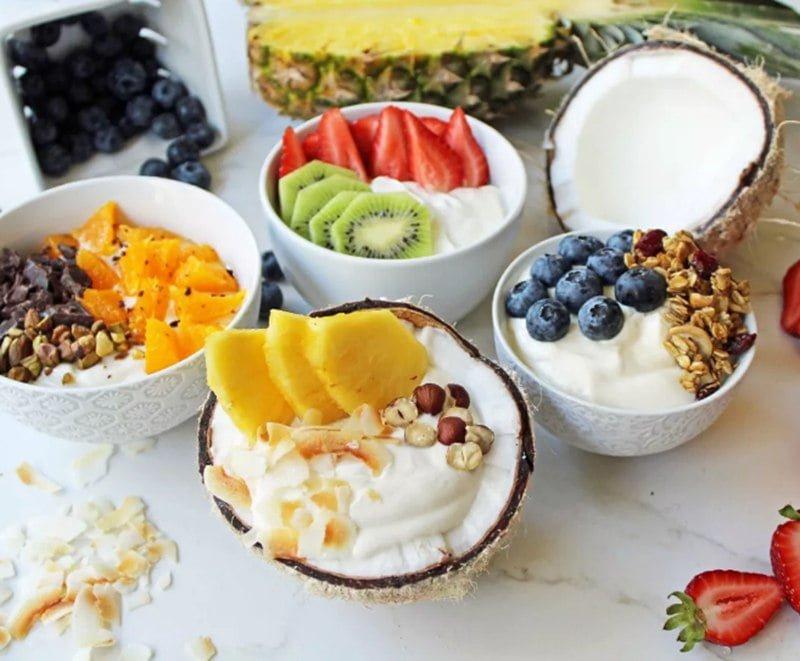 Fruit-based yogurt made by complete yogurt making machines