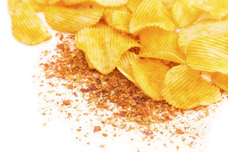 delicious potato chips made by potato chips processing line