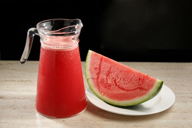 watermelon juice made by the fruit pulping machine