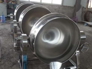 commercial jacketed cooking pot