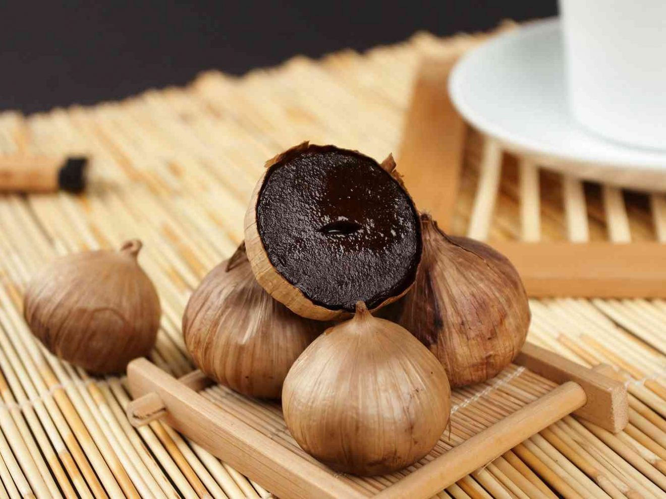 fresh black garlic made by black garlic making machine