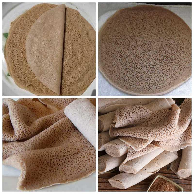 Ethiopian injera(flatbread) made by injera maker
