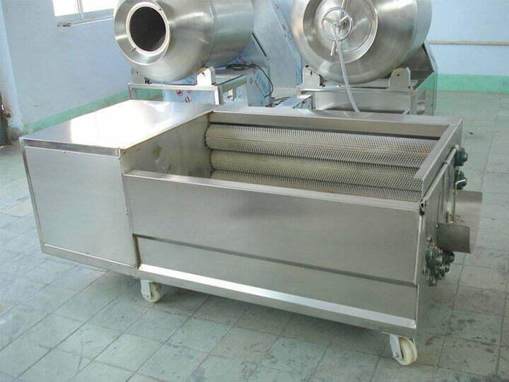 potato washing and peeling machine