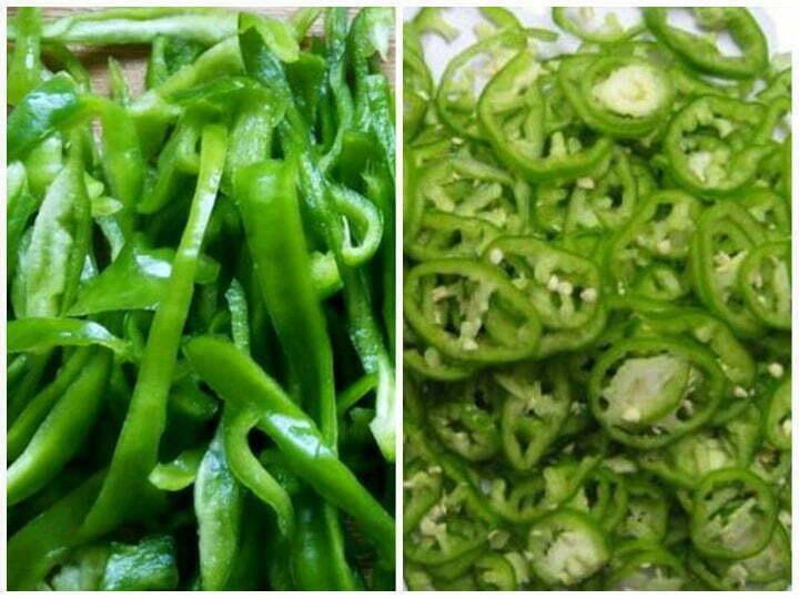 bell pepper cutting