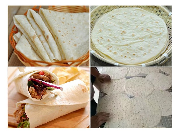cooked Mexican tortilla wraps