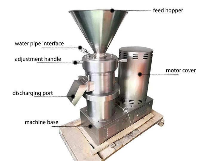 structure of small chili paste grinder